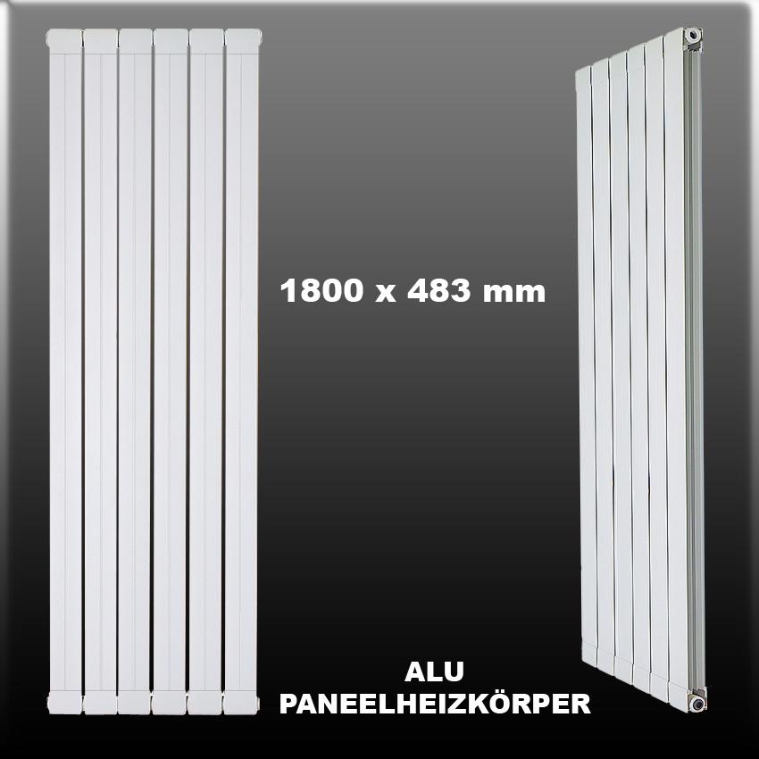design alu paneelheizk rper aluminium paneel heizk rper seitenanschluss 1800x483 ebay. Black Bedroom Furniture Sets. Home Design Ideas